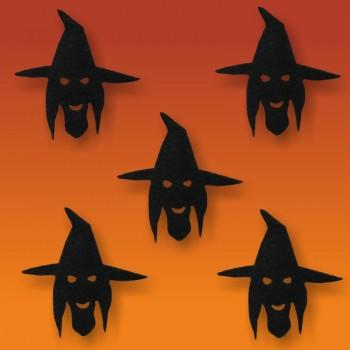 Halloween-Deko, Motiv: Hexenkopf