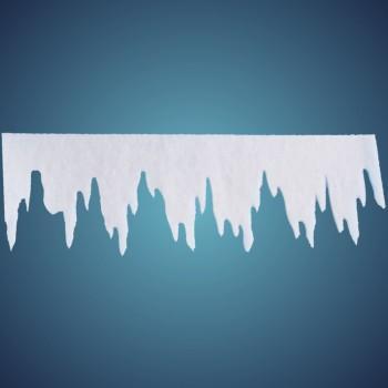 Eiszapfen (Größe: L) aus schwer entflammbarer Schneewatte, Größe: ~ 98 x 30 cm, Stärke: ~ 1 cm, 2 Stk./Btl.