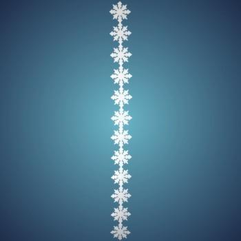 Nostalgiesterngirlande aus schwer entflammbarer Schneewatte, Dicke: ~ 2 cm, 12 Sterne à 17 cm, Länge: ~ 180 cm