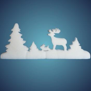 Schneewald aus Schneelan, Größe: ~50 x 21 cm, Dicke: ~ 10 mm, einzeln verpackt