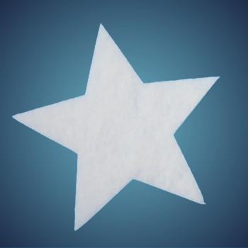Stern aus schwer entflammbarer Schneewatte, Dicke: ~ 2 cm, Grösse: 12 cm