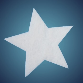 Stern aus schwer entflammbarer Schneewatte, Dicke: ~ 1 cm, Grösse: 12 cm