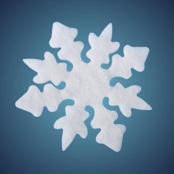Nostalgiestern aus schwer entflammbarer Schneewatte, Dicke: ~ 4 cm, selbststehend, Grösse: 29 cm