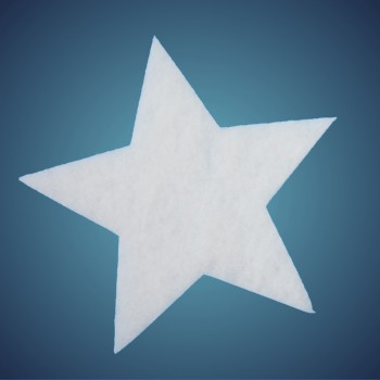 Stern aus schwer entflammbarer Schneewatte, Dicke: ~ 4 cm, selbststehend, Grösse: 12 cm
