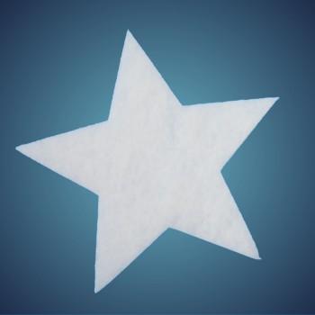 Stern aus schwer entflammbarer Schneewatte, Dicke: ~ 4 cm, selbststehend, Grösse: 29 cm