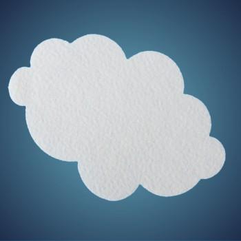 Wolke aus Filz, Dicke: ~ 2 mm, Grösse: 12 cm