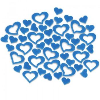Streudeko Herzen aus Filz in blau