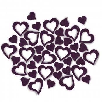 Streudeko Herzen aus Filz in lila