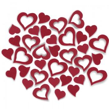 Streudeko Herzen aus Filz 25 g