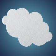 Wolke aus Filz, Dicke: ~ 2 mm, Grösse: 41 cm
