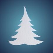 Schneetanne aus Filz, Dicke: ~ 2 mm, Grösse: 17 cm