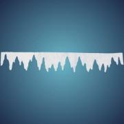 Eiszapfengirlande (Größe: M) aus schwer entflammbarer Schneewatte, Größe: ~ 100 x 16 cm, Stärke: ~ 2 cm