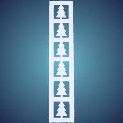 Tannenbordüre aus Filz, vertikal, Dicke: ~2 mm, Länge: 50 x 10 cm, 4 Stk./Beutel