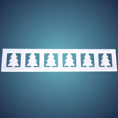 Tannenbordüre aus Filz, horizontal, Dicke: ~2 mm, Länge: 50 x 10 cm, 4 Stk./Beutel