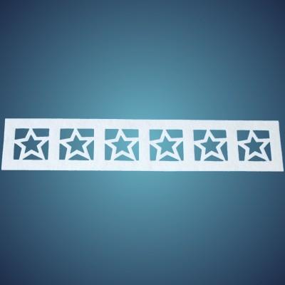 Sternenbordüre aus Filz, Dicke: ~2 mm, Länge: 50 x 10 cm, 4 Stk./Beutel