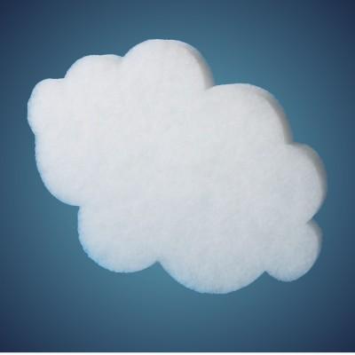Wolke aus schwer entflammbarer Schneewatte, Dicke: ~ 4 cm, selbststehend, Grösse: 41 cm