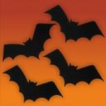 Halloween-Deko, Motiv: Fledermaus, klein