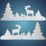 Schneewaldgirlande aus schwer entflammbarer Schneewatte, Dicke: ~ 2 cm, schwer entflammbar, Länge: ~ 200 cm