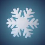 Schneeflocke aus schwer entflammbarer Schneewatte, Dicke: ~ 2 cm, Grösse: 17 cm