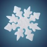 Nostalgiestern aus schwer entflammbarer Schneewatte, Dicke: ~ 2 cm, Grösse: 17 cm
