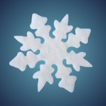 Nostalgiestern aus schwer entflammbarer Schneewatte, Dicke: ~ 1 cm, Grösse: 17 cm