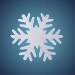 Schneeflocke aus schwer entflammbarer Schneewatte, Dicke: ~ 1 cm, Grösse: 17 cm