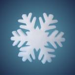 Schneeflocke aus schwer entflammbarer Schneewatte, Dicke: ~ 4 cm, selbststehend, Grösse: 29 cm