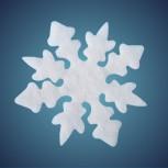 Nostalgiestern aus schwer entflammbarer Schneewatte, Dicke: ~ 4 cm, selbststehend, Grösse: 17 cm