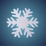 Schneeflocke aus Filz, Dicke: ~ 2 mm, Grösse: 29 cm
