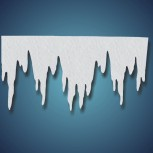 Eiszapfen (Größe: XL) aus Filz, Größe: ~ 125 x 66 cm, Stärke: ~ 2 mm