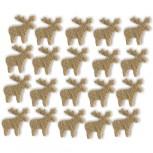 Streudeko Rentiere aus Filz 5 g Beutel / saharabeige