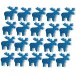 Streudeko Rentiere aus Filz in blau