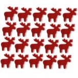 Streudeko Rentiere aus Filz in rot