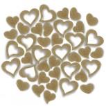 Streudeko Herzen aus Filz in saharabeige