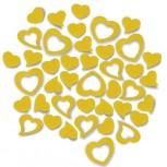 Streudeko Herzen aus Filz in gelb