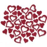 Streudeko Herzen aus Filz in rot