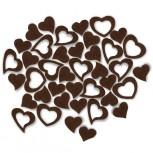 Streudeko Herzen aus Filz in schokobraun