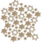 Streudeko Sterne aus Filz in saharabeige