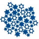 Streudeko Sterne aus Filz in blau