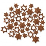 Streudeko Sterne aus Filz in cognac