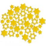 Streudeko Sterne aus Filz in gelb