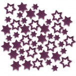Streudeko Sterne aus Filz in lila