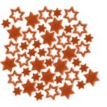 Streudeko Sterne aus Filz 25 g Beutel / orange