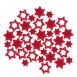 Streudeko Sterne aus Filz 25 g Beutel / rot