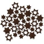 Streudeko Sterne aus Filz in schokobraun