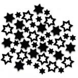 Streudeko Sterne aus Filz in schwarz