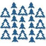 Streudeko Tannenbaum aus Filz in blau