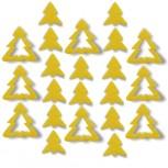 Streudeko Tannenbaum aus Filz in gelb
